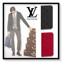 Louis Vuitton Monogram Blended Fabrics Leather Smart Phone Cases