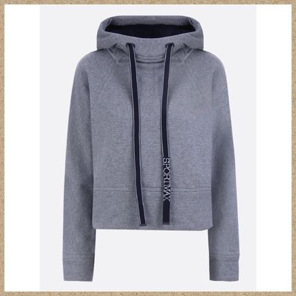 Long Sleeves Plain Cotton Hoodies & Sweatshirts