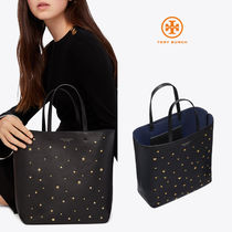 Tory Burch Star Casual Style Studded Leather Totes