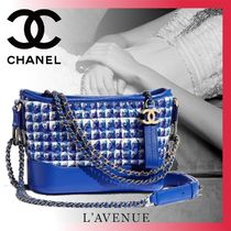 CHANEL Calfskin 2WAY Elegant Style Handbags