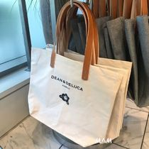 DEAN&DELUCA Casual Style Canvas A4 Plain Totes