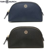 Tory Burch ROBINSON Plain Leather Pouches & Cosmetic Bags