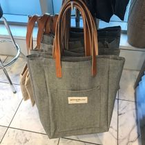 DEAN&DELUCA Canvas A4 Plain Office Style Totes