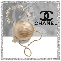 CHANEL Plain Party Style Shoulder Bags