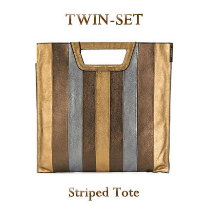 Stripes Leather Totes
