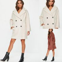 Missguided Plain Long Elegant Style Peacoats