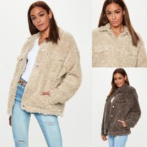 Missguided Faux Fur Plain Long Special Edition Varsity Jackets