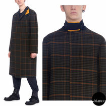OAMC Other Check Patterns Wool Long Chester Coats