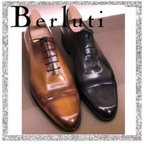 Berluti Straight Tip Loafers Plain Leather Loafers & Slip-ons