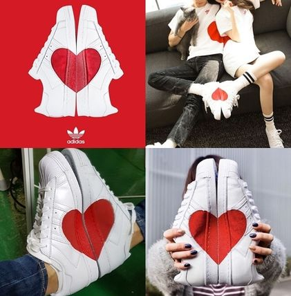 on sale 4a9df 0d367 adidas 2018-19AW Heart Round Toe Rubber Sole Casual Style Unisex Street  Style (CQ3009)