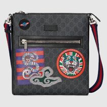 GUCCI Unisex Leather Halloween Messenger & Shoulder Bags