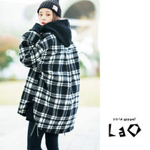 Other Check Patterns Unisex Street Style Long Sleeves Long