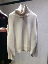 CELINE Casual Style Cashmere Long Sleeves Plain Medium High-Neck