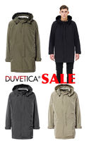DUVETICA Street Style Plain Long Trench Coats