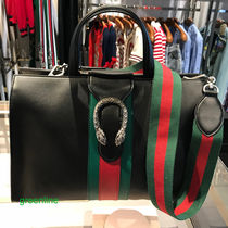 GUCCI Dionysus Stripes A4 2WAY Plain Leather Bags
