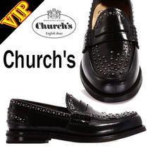 Church's Moccasin Studded Plain Leather Loafers & Slip-ons