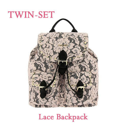 Flower Patterns Casual Style Studded Backpacks