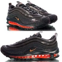 Nike AIR MAX 97 Leopard Patterns Unisex Street Style Leather Sneakers
