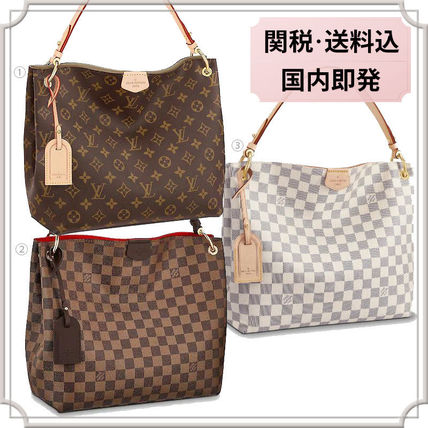 33e238e66f5e1 Louis Vuitton 2019 SS  Louis Vuitton  GRACEFUL PM TOTE-BAG FINE A4 ...