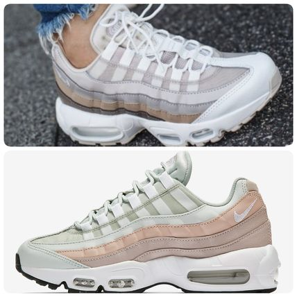 Nike AIR MAX 95 2018 19AW Stripes Open Toe Lace up Casual Style Unisex Street Style (307960 018)
