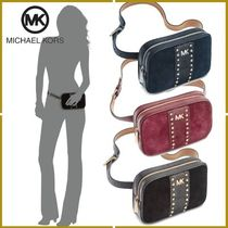 Michael Kors Casual Style Suede Studded 2WAY Plain Shoulder Bags