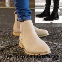 Bee Inspired Clothing Suede Street Style Plain Boots