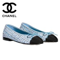 CHANEL Other Check Patterns Round Toe Elegant Style Flats