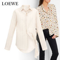 LOEWE Stripes Casual Style Bi-color Long Sleeves Cotton Medium