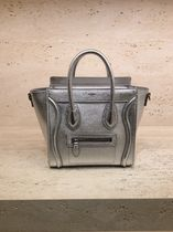 CELINE Luggage Casual Style 2WAY Plain Leather Shoulder Bags