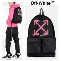 Off-White Nylon Street Style A4 Backpacks