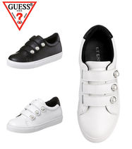 Guess Wedge Round Toe Casual Style Street Style Plain With Jewels