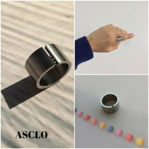 ASCLO Unisex Street Style Home Party Ideas Stainless Rings