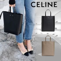 CELINE Cabas Calfskin 2WAY Plain Shoulder Bags