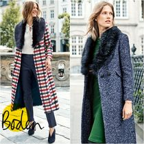Boden Other Check Patterns Plain Long Office Style Chester Coats