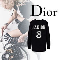 Christian Dior JADIOR Casual Style Cashmere V-Neck Long Sleeves Plain Cashmere