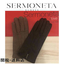 Sermoneta gloves Plain Leather Leather & Faux Leather Gloves