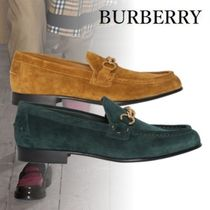 Burberry Loafers Suede Chain Plain Loafers & Slip-ons