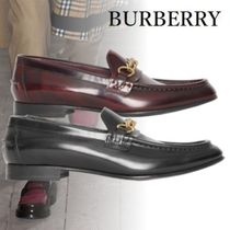 Burberry Loafers Chain Plain Leather Loafers & Slip-ons