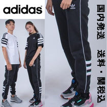 adidas Casual Style Unisex Sweat Street Style Bi-color Long