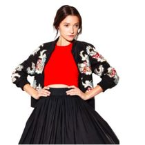 Alice+Olivia Flower Patterns Medium Party Style With Jewels