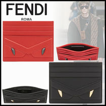 FENDI BAG BUGS Leather Card Holders