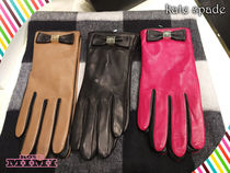 kate spade new york Plain Leather Leather & Faux Leather Gloves
