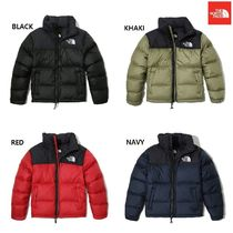 THE NORTH FACE Nuptse Unisex Wool Street Style Plain Long Bold Down Jackets