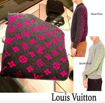 Louis Vuitton MONOGRAM Monogram Unisex Cashmere Long Sleeves Knits & Sweaters
