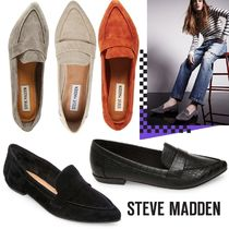 Steve Madden Suede Plain Loafer Pumps & Mules