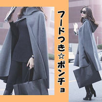Plain Medium Ponchos & Capes