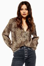 TOPSHOP Leopard Patterns Casual Style Street Style Long Sleeves