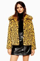 TOPSHOP Leopard Patterns Casual Style Faux Fur Street Style