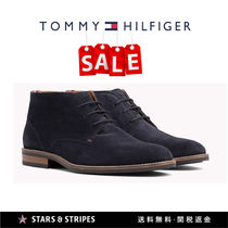 Tommy Hilfiger Straight Tip Suede Street Style Plain Oxfords