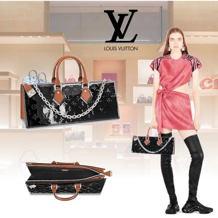 Monogram Leather Elegant Style Handbags